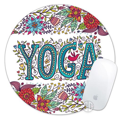 Mouse Pad Floral Yoga
