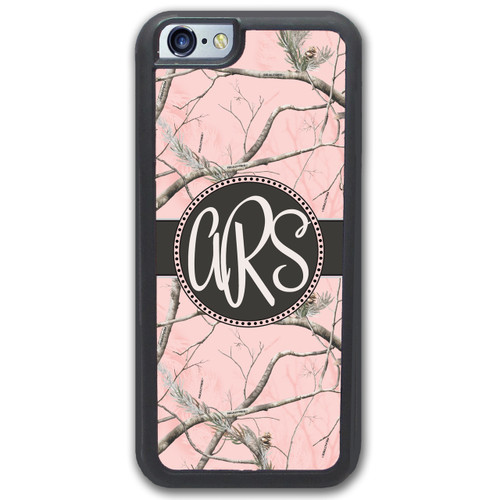 iPhone Case - Pink Camo Camouflage Monogrammed Monogram - SimplyCustomized.com