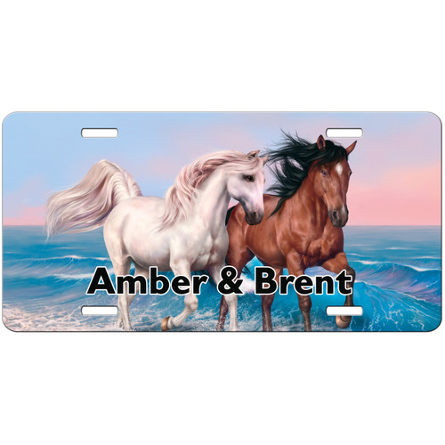 Horse License Plate, Horses License Plate, Horses Car Tag, Personalized Horses Car Tag