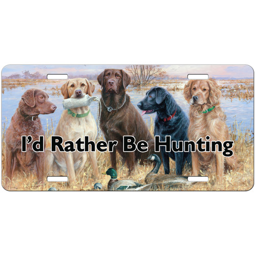 Hunting Dogs License Plate, Hunting Gifts for Men, Hunter Gift, Dogs Labs Car Tag