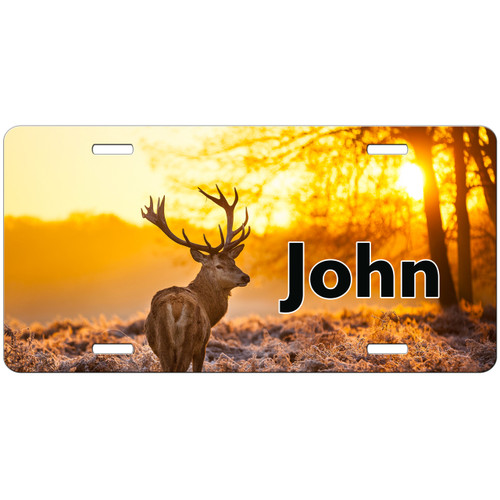 Hunting License Plate, Deer License Plate, Deer Car Tag, Personalized Hunting