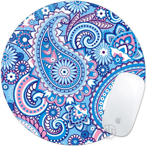 blue paisley mouse pad mousepad