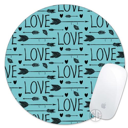 Mouse Pad Love and Arrows Boho Bohemian Hipster Mousepad