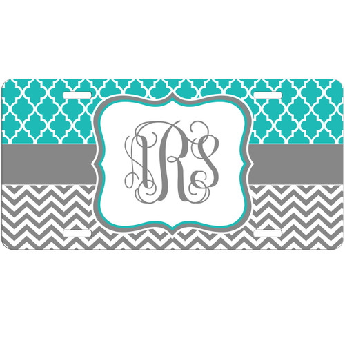 monogrammed car tag license plate vanity