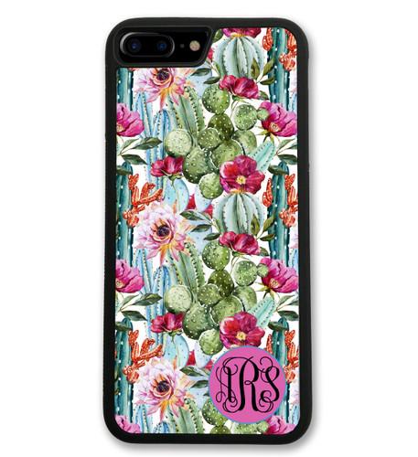 Cactus iPhone Case - Succulents Monogrammed