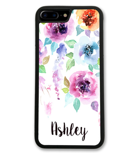Floral Chevrons iPhone Case - Flowers Monogrammed