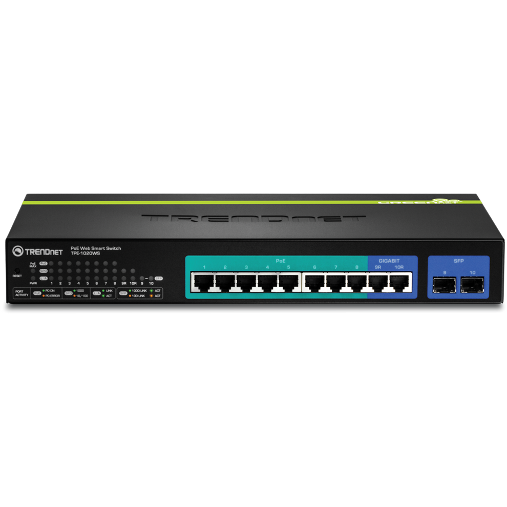 8 Channel Power Over Ethernet Switch