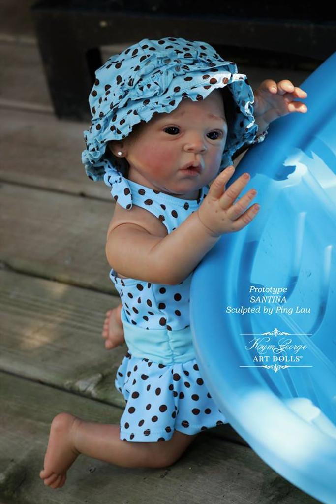 Santina Reborn Vinyl Doll Kit by Ping Lau