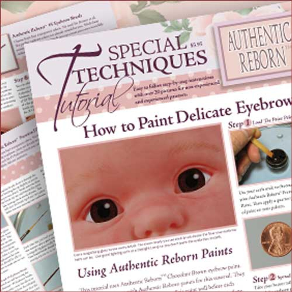 Special Techniques Tutorial: How to Paint a Clay Sculpt STTHow to Paint Delicate Eyebrows STT