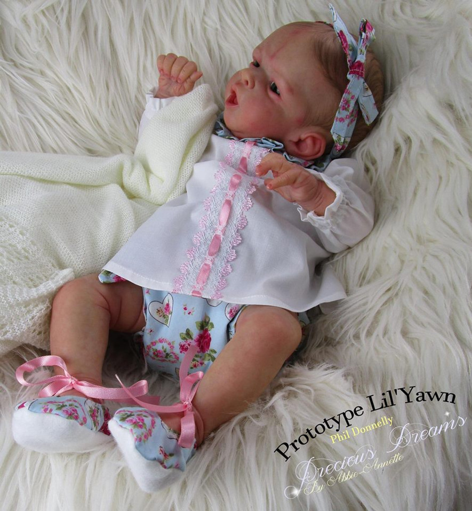 Lil Yawn Reborn Vinyl Doll Kit by Philomena Donnelly