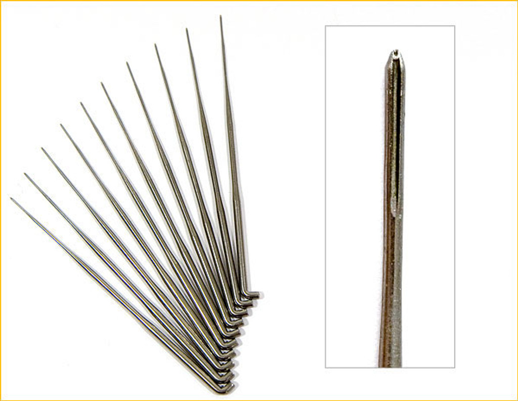 German Rooting Needles 43 Gauge With 0 Barbs (Forked)- Pack of 10
