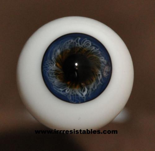 German Glass Eyes: Full Round Dark Blue #10