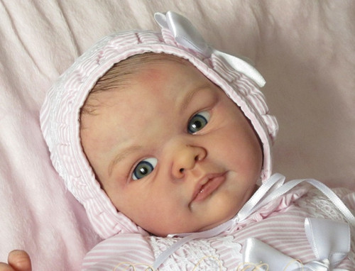 Jill Reborn Vinyl Doll Head by Adrie Stoete Mix & Match