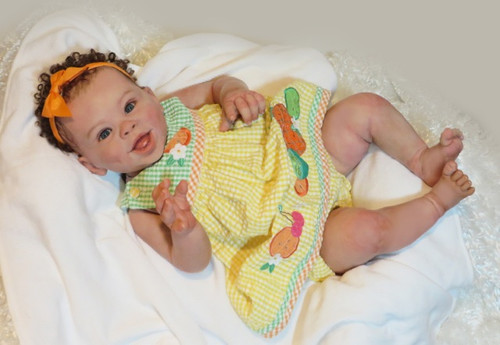 Jordyn Smiling Reborn Vinyl Doll Kit by Laura Tuzio Ross