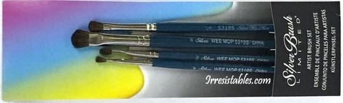 Silver Brush Wee Mop 4 Brush Set WM-5319S