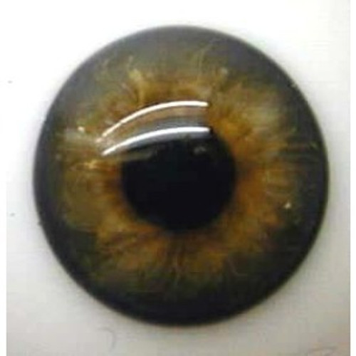 German Glass Eyes: Full Round Blue Grey Brown #21