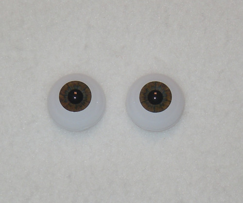 Acrylic Real Eyes in Dark Brown
