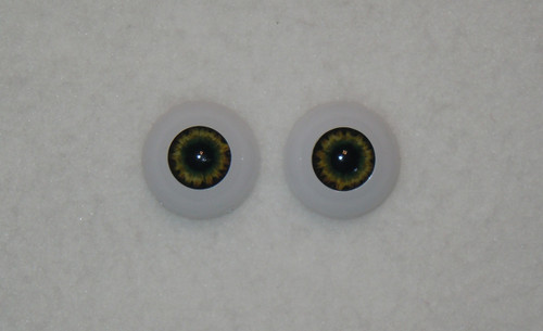 Acrylic Real Eyes in Dark Brown Green