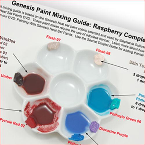 Genesis Paint Mix Chart: Raspberry Complexion PTG