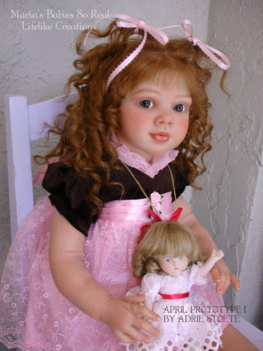 April Reborn Doll Kit by Adrie Stoete