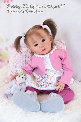 Ida Sitting Toddler Reborn Doll Kit by Karola Wegerich
