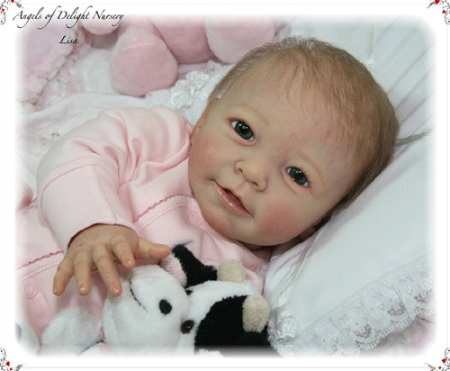 Lisa Vinyl Reborn Doll Kit by Linde Scherer