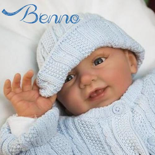 Benno Vinyl Reborn Doll Kit by Linde Scherer