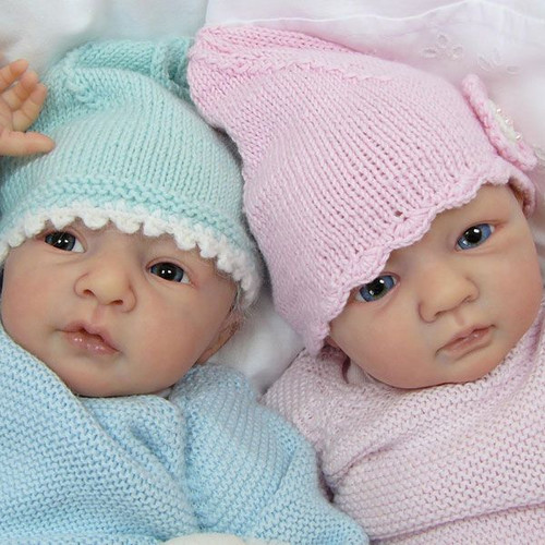 Petra & Daniel Vinyl Reborn Twin Set Doll Kits by Linde Scherer