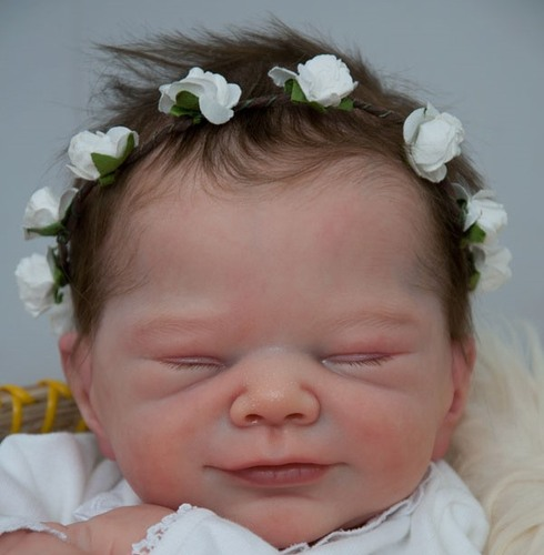 Joy Reborn Vinyl Doll Head by Adrie Stoete  Mix & Match