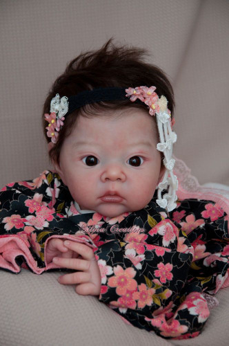 Akina Reborn Vinyl Doll Head by Adrie Stoete  Mix & Match