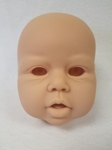 Violet Reborn Vinyl Doll Head by Jannie De Lange