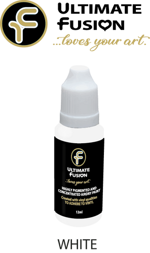 Ultimate Fusion All in One Air Dry Paint White 12ml Bottle