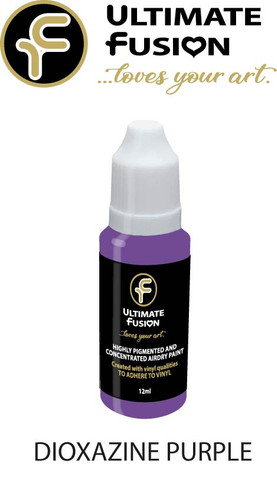 Ultimate Fusion All in One Air Dry Paint DIOXAZINE PURPLE  12ml Bottle