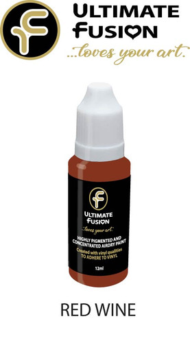 Ultimate Fusion All in One Air Dry Paint RED WINE 12ml Bottle