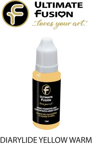 Ultimate Fusion All in One Air Dry Paint DIARYLIDE YELLOW WARM 12ml Bottle