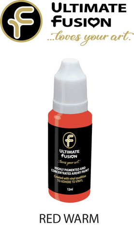 Ultimate Fusion All in One Air Dry Paint RED WARM 12ml Bottle