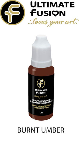 Ultimate Fusion All in One Air Dry Paint BURNT UMBER 12ml Bottle