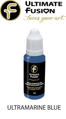Ultimate Fusion All in One Air Dry Paint ULTRAMARINE BLUE 12ml Bottle