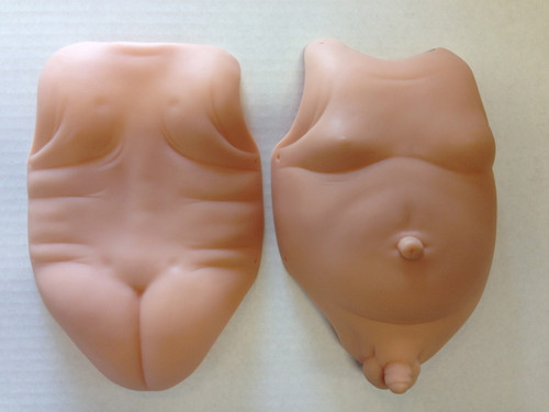 "Tummy & Back Plates - Male for 18"" Doll Kits"