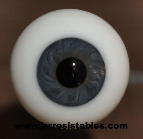 German Glass Eyes: Full Round Blue Grey #82