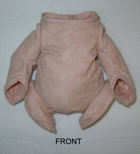 """Doe Suede Body for 16-17"""" Dolls 1/4 Jointed Arms Full Jointed Legs #1626"""