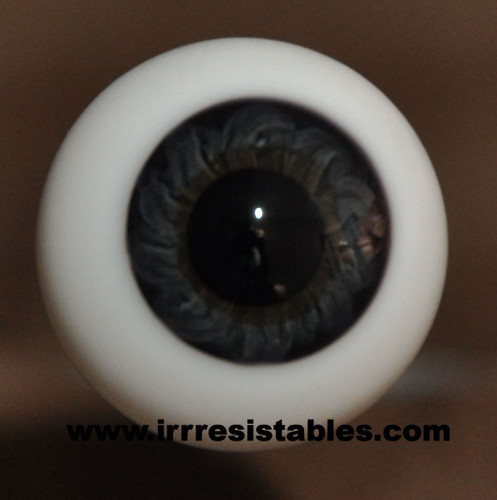 German Glass Eyes: Full Round Black Blue #80