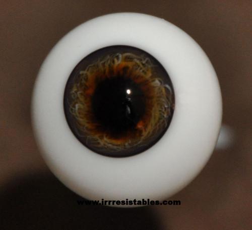 German Glass Eyes: Full Round Dark Hazel #3