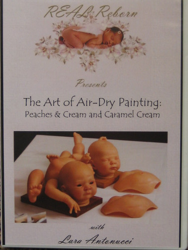 Art of Air-Dry Painting Peaches & Cream & Caramel Cream DVD By Lara Antonucci