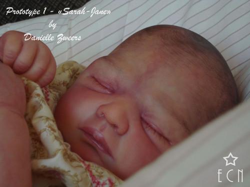 Sarah Jane Reborn Vinyl Doll Kit by Danielle Zweers