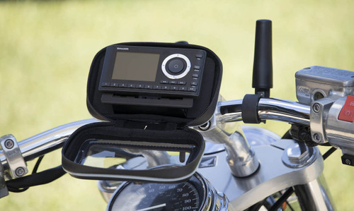 Satellite Radio OnyXPlus Receiver installed on a motorcycle