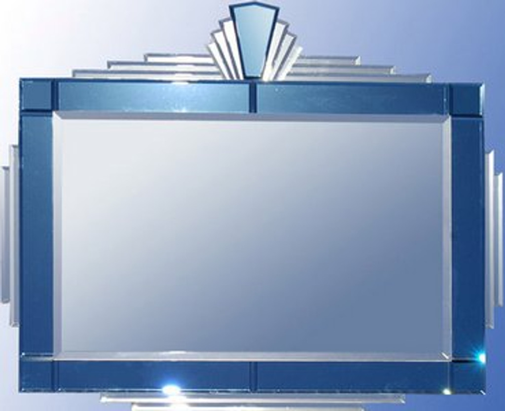 Art deco mirror | Dorothy blue