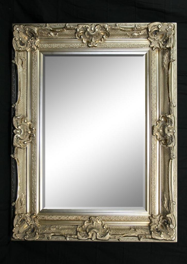 Grand Ornate Silver Mirror - Print Decor - Art, Mirrors, Frames