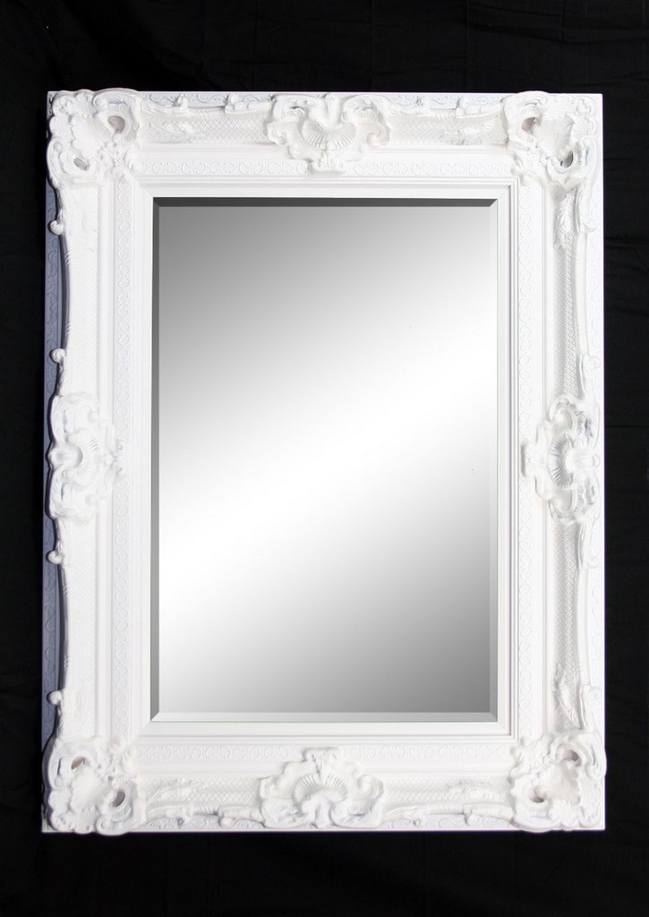 Grand Ornate White Mirror - Print Decor - Art, Mirrors, Frames