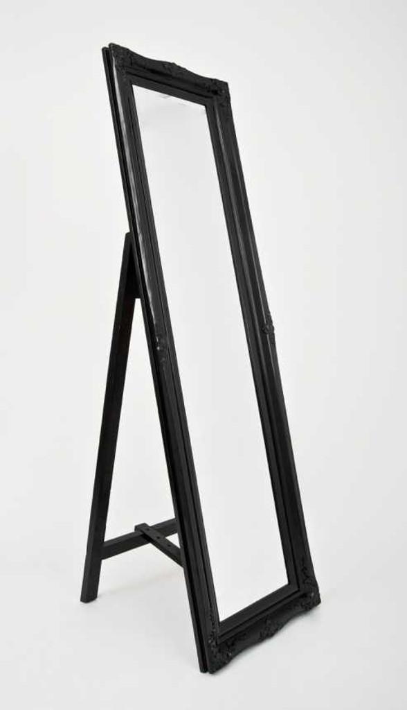 Princess Free Standing Floor Mirror - Black